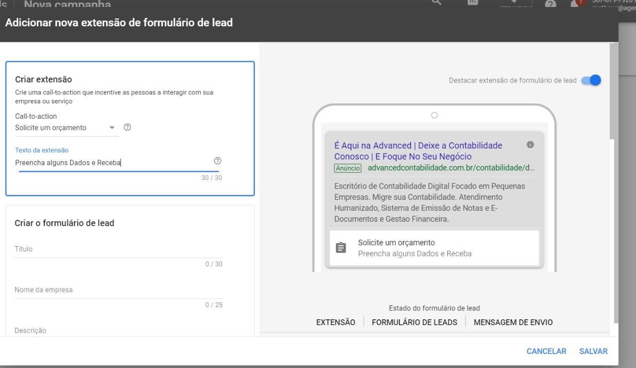 confira como se conectar com os seus clientes de maneira rápida utilizando as novas extensões de formulário do Google Ads.